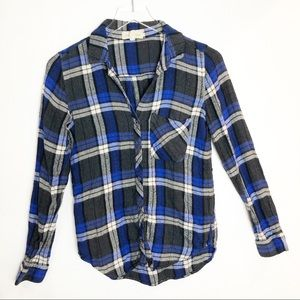Anthropologie | Cloth & Stone Plaid Button Up Top